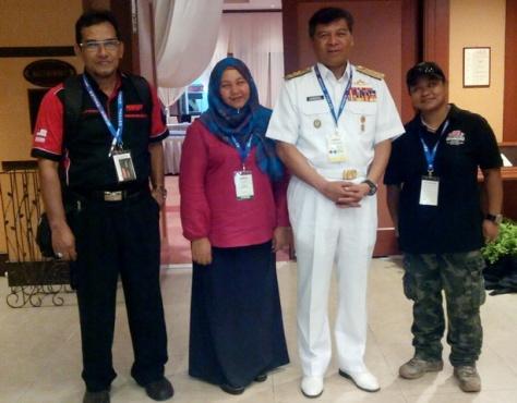 Mac at TLDM Press centre with Dato K, Shiba & Aenid