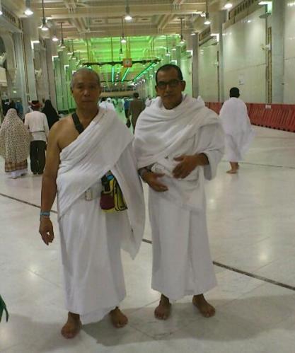 bersama haji Rahman selepas sae umrah